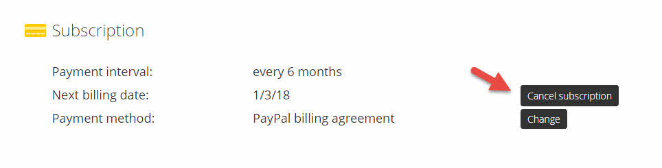 cyberghost pro cancel recurring payments