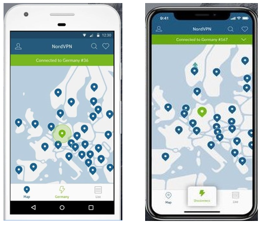 NordVPN's Android and iPhone App